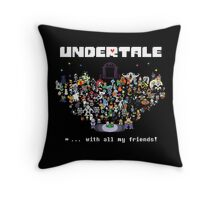 Monster Friends - Undertale Throw Pillow