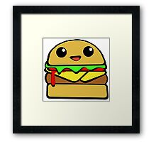 Kawaii Burger  Framed Print