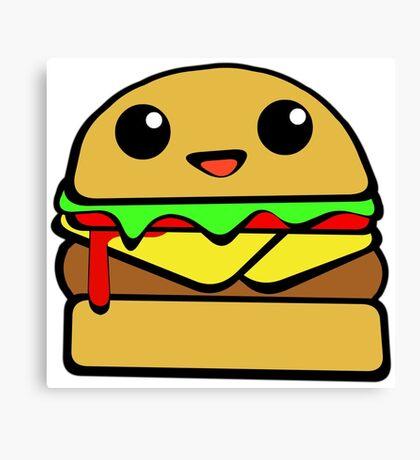 Kawaii Burger  Canvas Print
