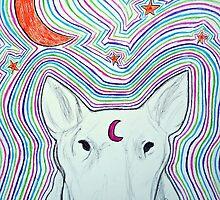 The dog, and the moon by Rocker-fan-art