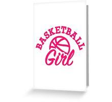 Basketball girl Greeting Card