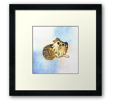 Watercolor Australian Shepherd Dog Framed Print