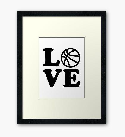 Basketball love Framed Print