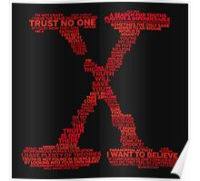 Wisdom of X-Files (Red) Poster