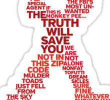 Wisdom of X-Files (Red) Sticker