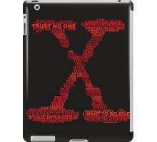 Wisdom of X-Files (Red) iPad Case/Skin