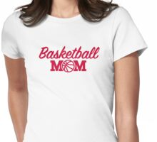 Basketball mom Womens Fitted T-Shirt