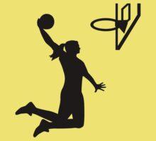 Basketball girl woman One Piece - Short Sleeve