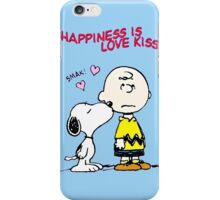Charlie Snoopy Happines Love Kiss iPhone Case/Skin