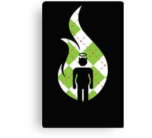 Green Plaid Beer Belly Mens Room Canvas Print
