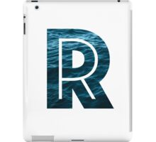 "The Letter ""R"" Ocean iPad Case/Skin"