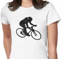 Cycling woman girl Womens Fitted T-Shirt