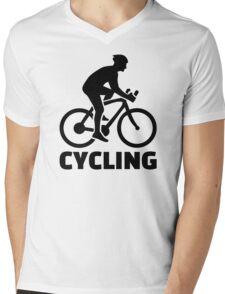 Cycling Mens V-Neck T-Shirt