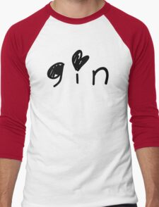 Cute Gin Men's Baseball ¾ T-Shirt