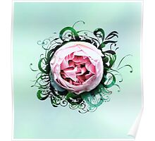 Rose bud flourish  Poster