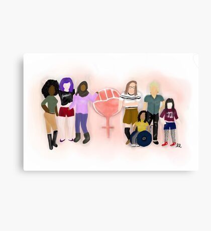 Feminist Strong Canvas Print