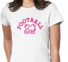 Football girl Womens Fitted T-Shirt