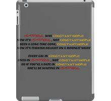 Istanbul not Constantinople iPad Case/Skin