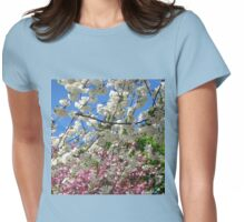 Blue Sky and Beautiful Blossoms Womens Fitted T-Shirt