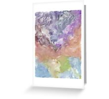 Abstract Nature Landscape Earth Space Greeting Card