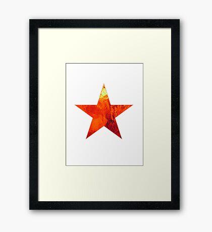 Flaming Star Framed Print