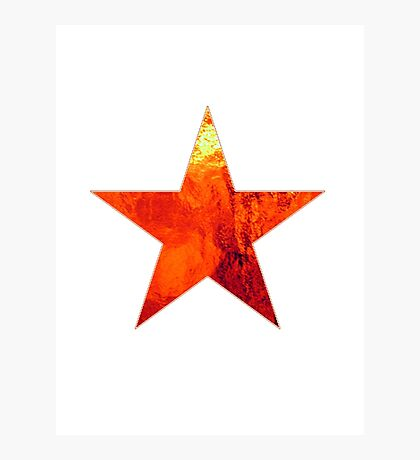 Flaming Star Photographic Print