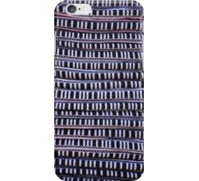Black and White Textile Stripes iPhone Case/Skin