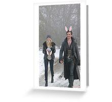 Captain Swan Bunny Ears Greeting Card