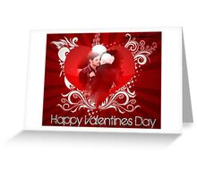 A Captain Swan Valentine Greeting Card