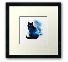 Space Cat Framed Print