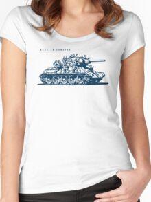 T-34 Russian Caravan Women's Fitted Scoop T-Shirt