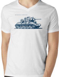 T-34 Russian Caravan Mens V-Neck T-Shirt