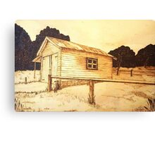 The Old Berrima Garage - Original Pyrography Canvas Print