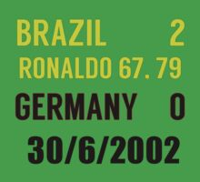Brazil 2-0 Germany - 2002 world cup final Kids Clothes