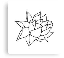 Lotus Flower- Black and White Canvas Print