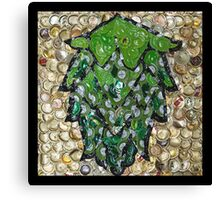 The Hops made of Beer Caps - Bottle Cap Mosaic Canvas Print