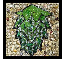 The Hops made of Beer Caps - Bottle Cap Mosaic Photographic Print