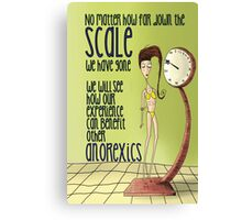 Anorexic Scale Canvas Print