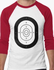 Human Target Practice Men's Baseball ¾ T-Shirt