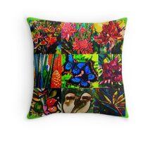 Tropical patchwork Throw Pillow