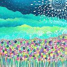 Flowers Field II by Carolina  Coto