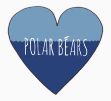 Stranded Polar Bear Love One Piece - Short Sleeve