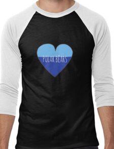 Stranded Polar Bear Love Men's Baseball ¾ T-Shirt
