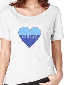 Stranded Polar Bear Love Women's Relaxed Fit T-Shirt
