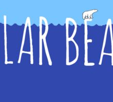 Stranded Polar Bear Love Sticker
