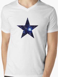 Disco Star Mens V-Neck T-Shirt