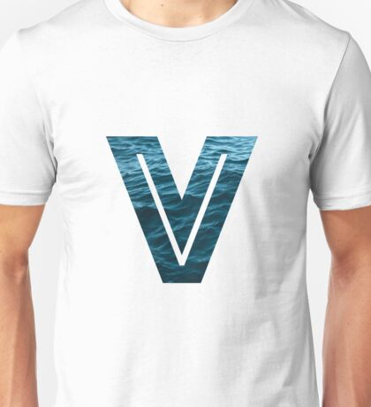 """The Letter """"V"""" Ocean Unisex T-Shirt"""