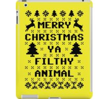 Filthy Animal Ugly Christmas Sweater Black iPad Case/Skin