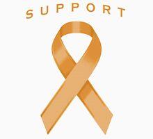 Orange Awareness Ribbon of Support Unisex T-Shirt