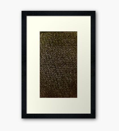Knitted chainmail Framed Print